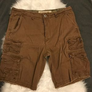 pluggo Shorts - Brown Cargo Shorts Pluggo